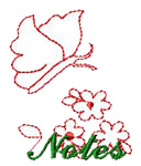 Butterfly and Flowers embroidery design