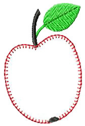 Apple Applique embroidery design