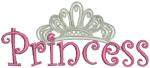 Princess embroidery design