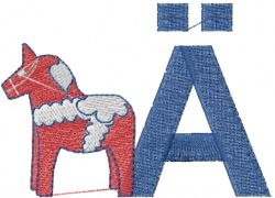 ABC embroidery design