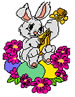 FLOWER BUNNY embroidery design