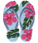 Hawaii Wear embroidery design
