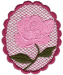 Rose Embellishment embroidery design