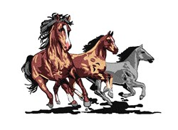 Running Horses embroidery design