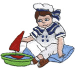 Playing Girl embroidery design