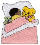 Kid Sleeping embroidery design