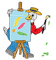 Painter Duck embroidery design