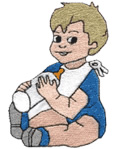 Feeding Child embroidery design