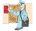 Goose as Postman embroidery design