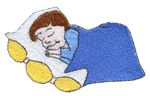 Sleeping Boy embroidery design