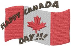 Canada Day embroidery design