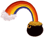 Pot o Gold embroidery design