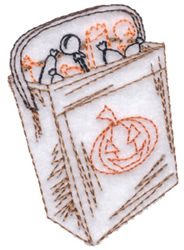 Halloween Bag embroidery design