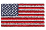 Flag embroidery design
