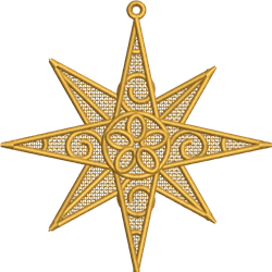 FSL Christmas Star embroidery design