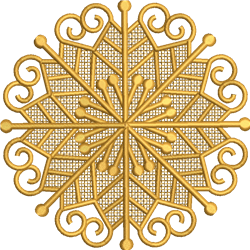 FSL Intricate Snowflake6 embroidery design