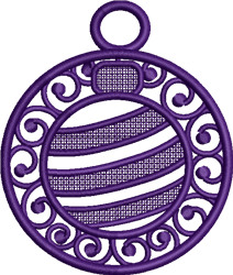 FSL Ornament Earring embroidery design