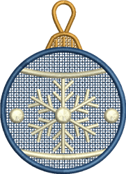 FSL Snowflake Ornament embroidery design