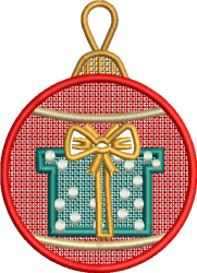 FSL Christmas Gift Ornament embroidery design