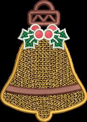 FSL Jingle Bell Ornament embroidery design