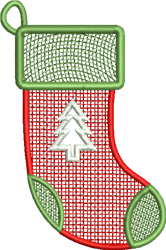 FSL Christmas Tree Stocking embroidery design