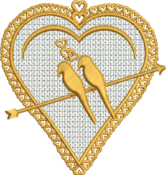 FSL Love Birds Ornament embroidery design