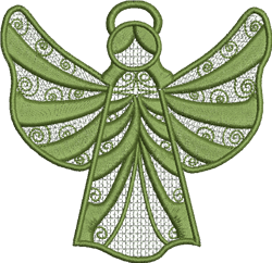 FSL Mint Angel Ornament embroidery design