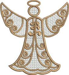FSL Swirling Angel Ornament embroidery design