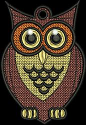 FSL Owl embroidery design