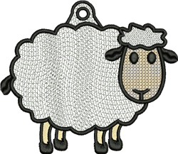 FSL Sheep embroidery design