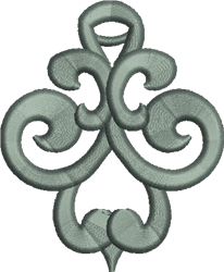 FSL Curled Ornament embroidery design