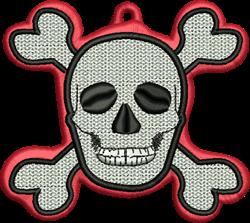 FSL Skull & Crossbones embroidery design