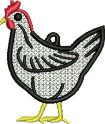 FSL Chicken embroidery design