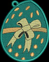 FSL Easter Egg Ornament embroidery design