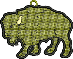 FSL Buffalo Ornament embroidery design