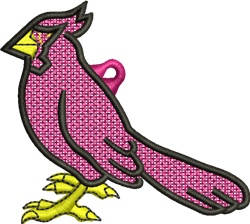 FSL Cardinal Ornament embroidery design