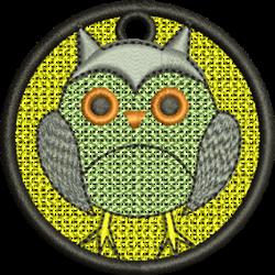 FSL Owl Ornament embroidery design