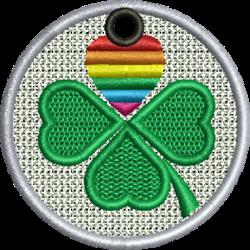 FSL Pride Shamrock Ornament embroidery design