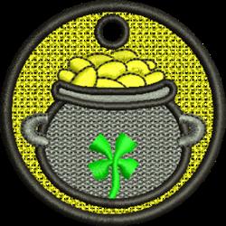 FSL Pot O Gold Ornament embroidery design