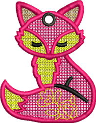 FSL Fox embroidery design