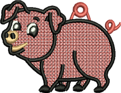 FSL Pig embroidery design