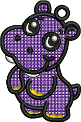 FSL Hippo embroidery design