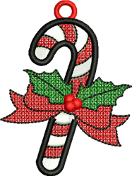 FSL Christmas Candy Cane embroidery design