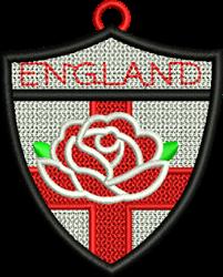 FSL England Crest embroidery design