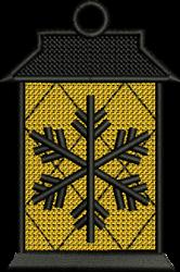 FSL Snowflake Lantern Ornament embroidery design