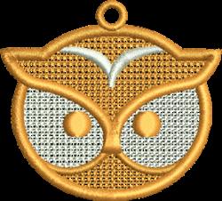 Owl Head Ornament embroidery design