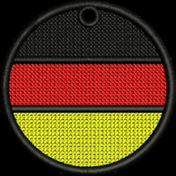 FSL German Flag embroidery design