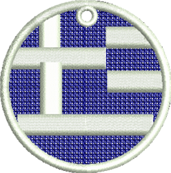 FSL Flag Of Greece embroidery design