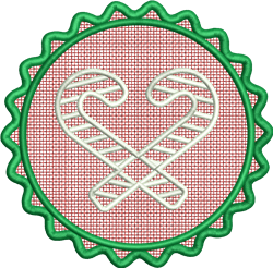 FSL Candy Cane embroidery design