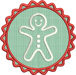 FSL Gingerbread Man embroidery design